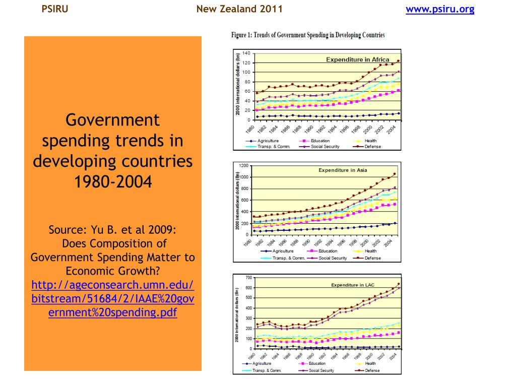 Government spending trends in developing countries 1980-2004