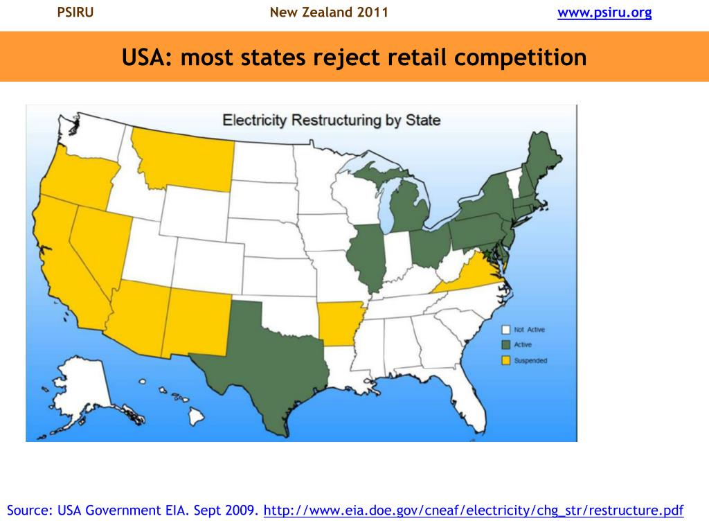 USA: most states reject retail competition