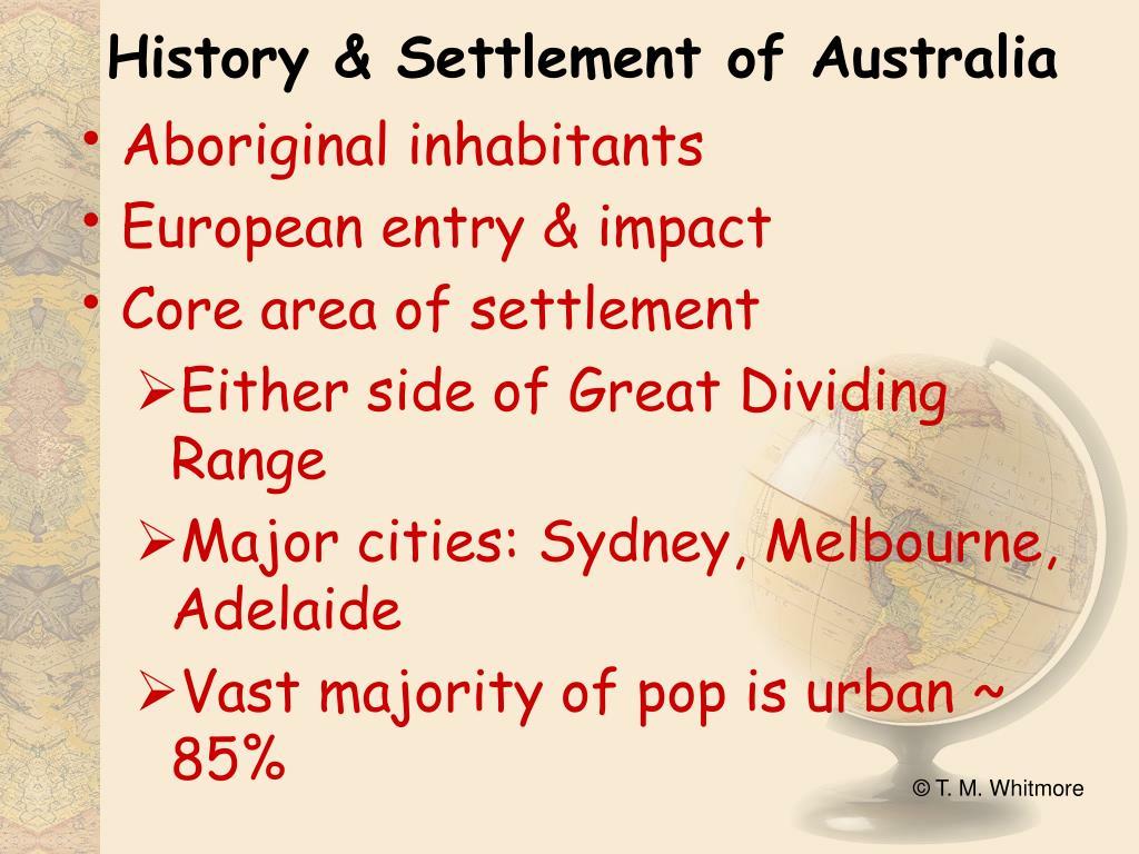 History & Settlement of Australia