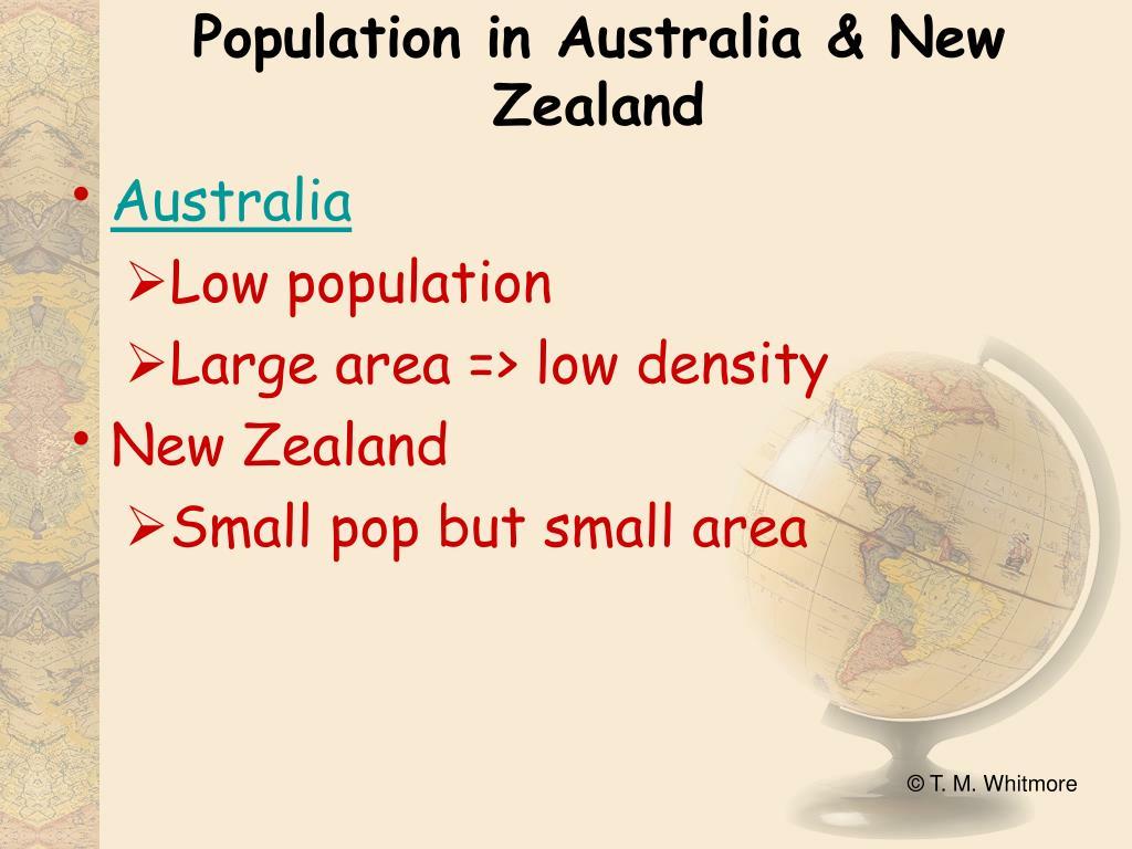 Population in Australia & New Zealand