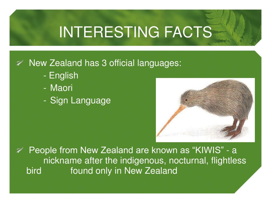 New Zealand has 3 official languages: