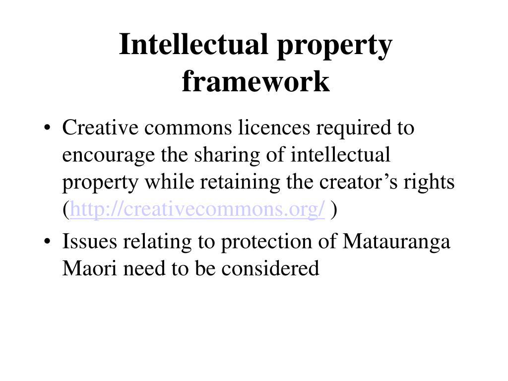 Intellectual property framework