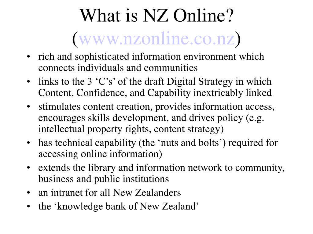 What is NZ Online? (
