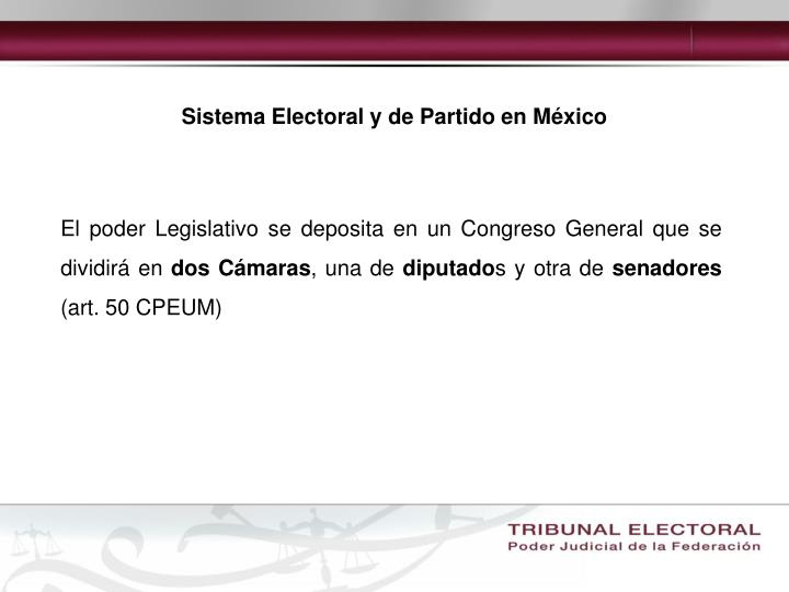 Sistema Electoral y de Partido en México