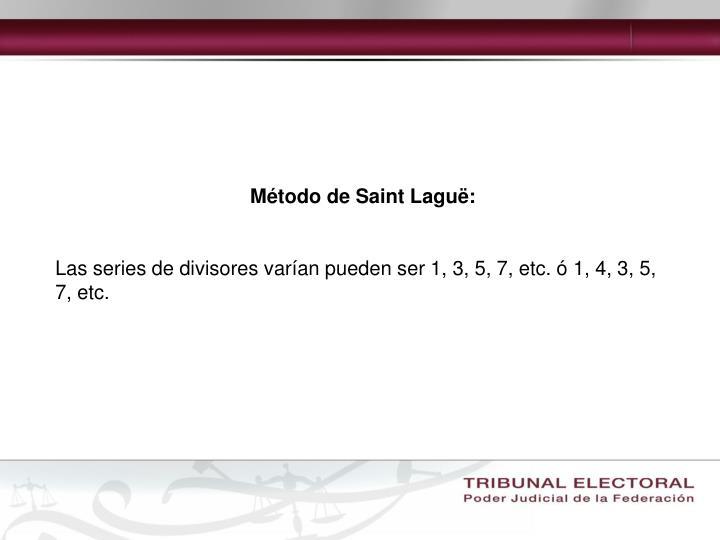 Método de Saint Laguë: