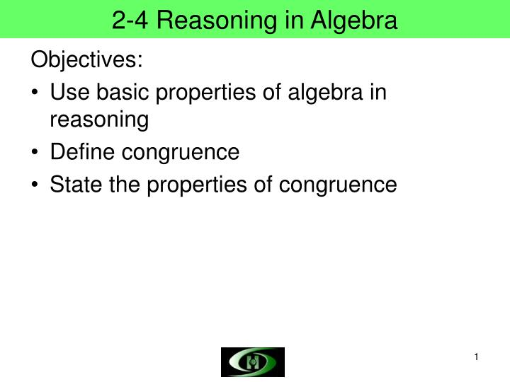 2 4 reasoning in algebra