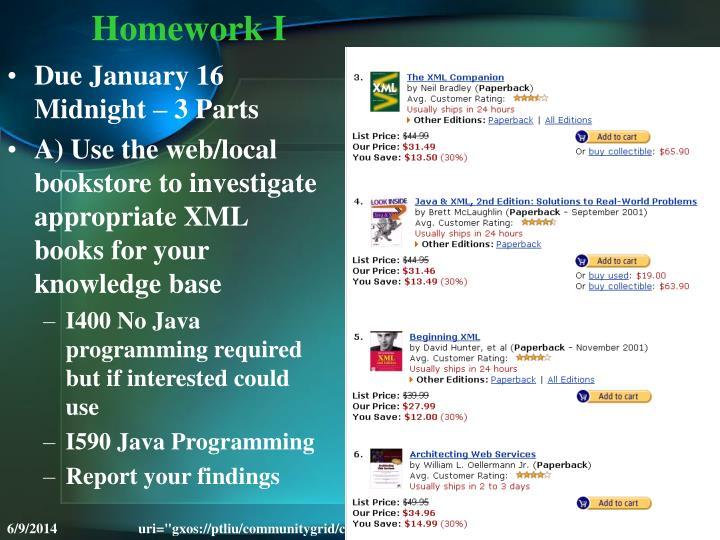 Homework I