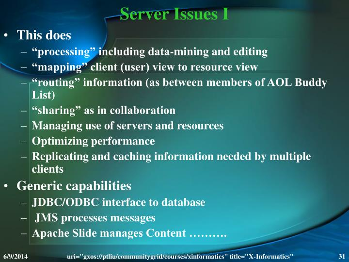 Server Issues I