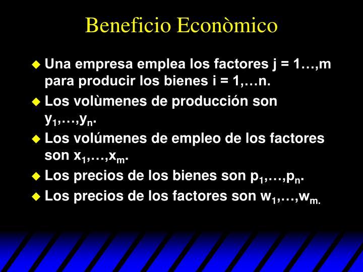 Beneficio Econòmico