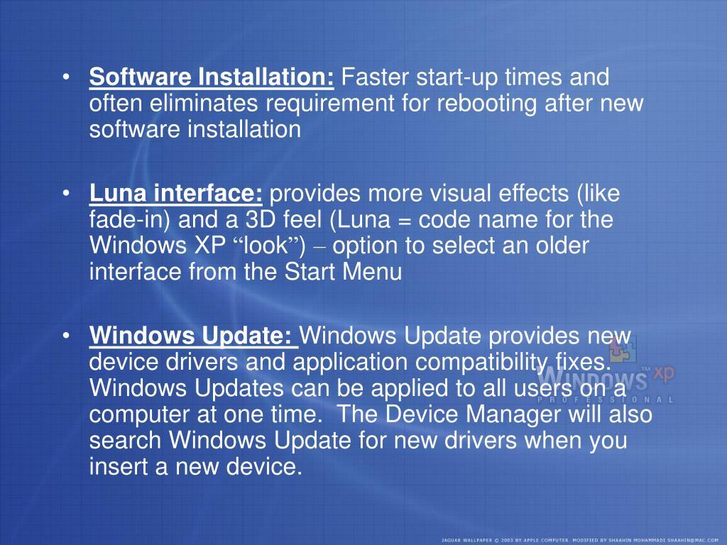 Software Installation: