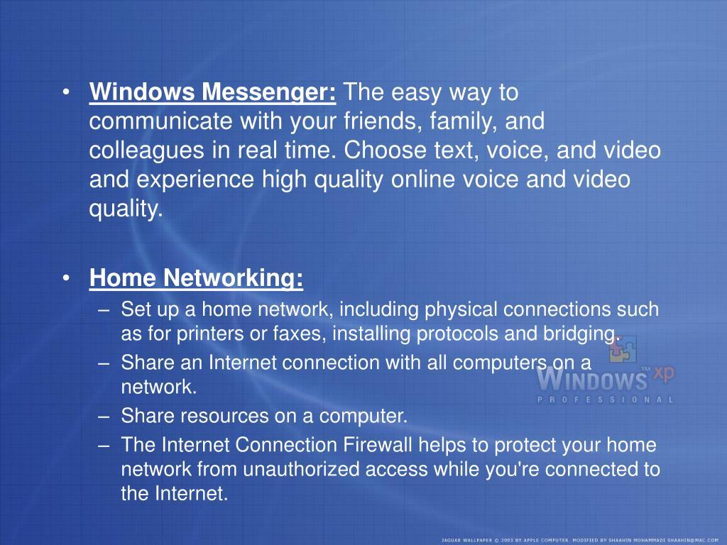 Windows Messenger: