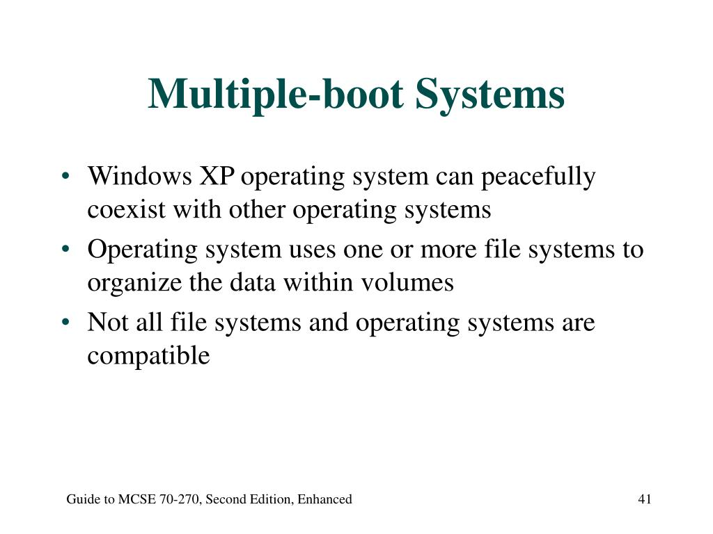 Multiple-boot Systems