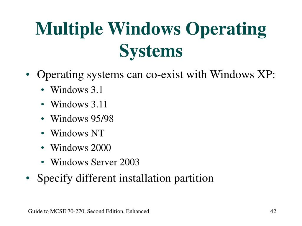 Multiple Windows Operating Systems