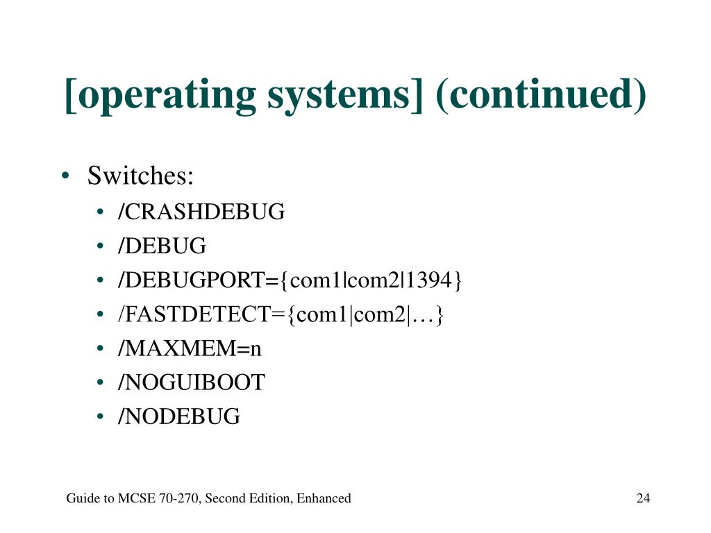[operating systems] (continued)
