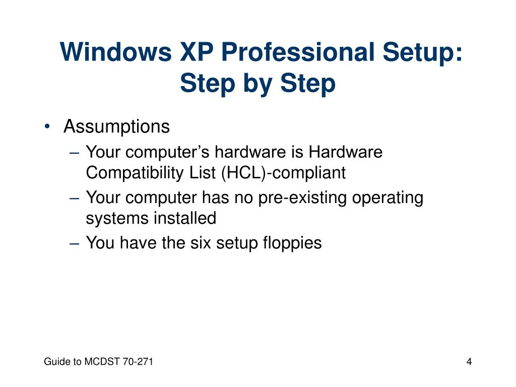 Windows XP Professional Setup: Step by Step