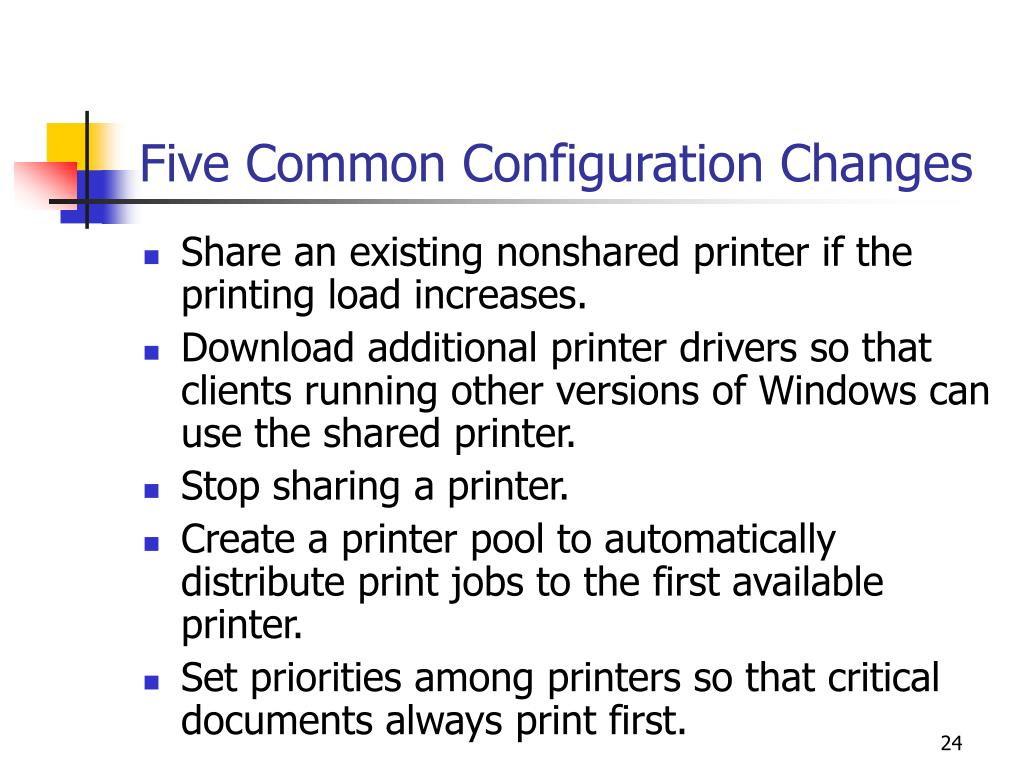 Five Common Configuration Changes