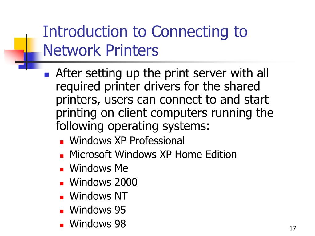 Introduction to Connecting to Network Printers