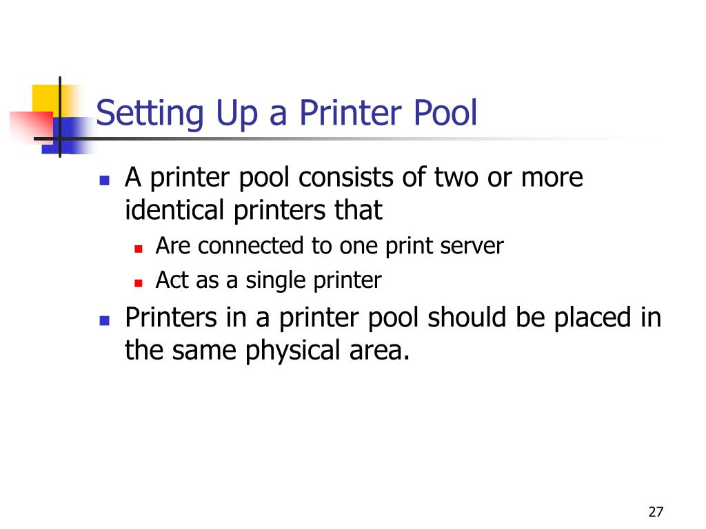 Setting Up a Printer Pool