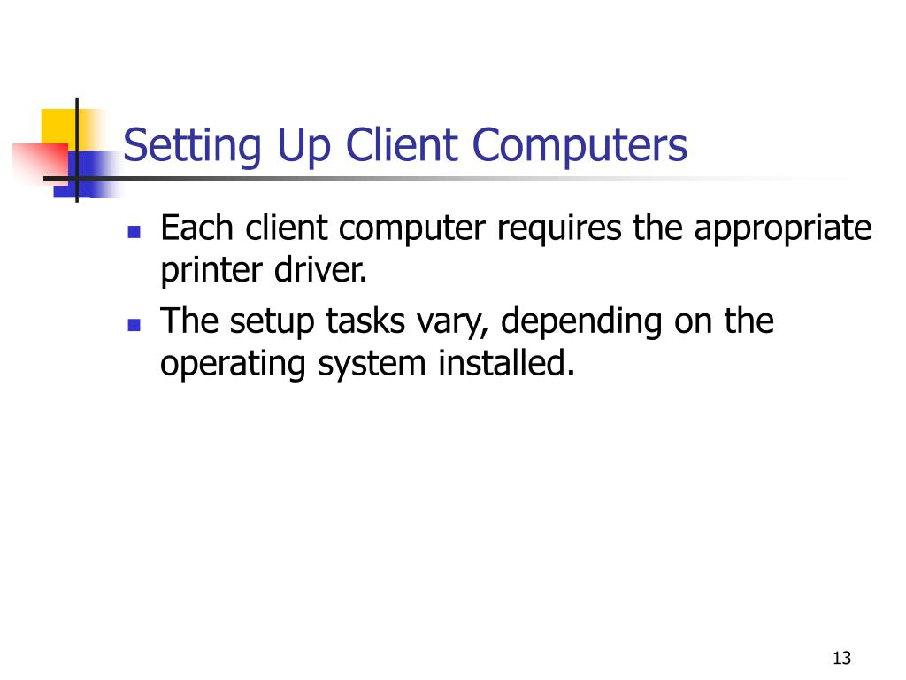 Setting Up Client Computers