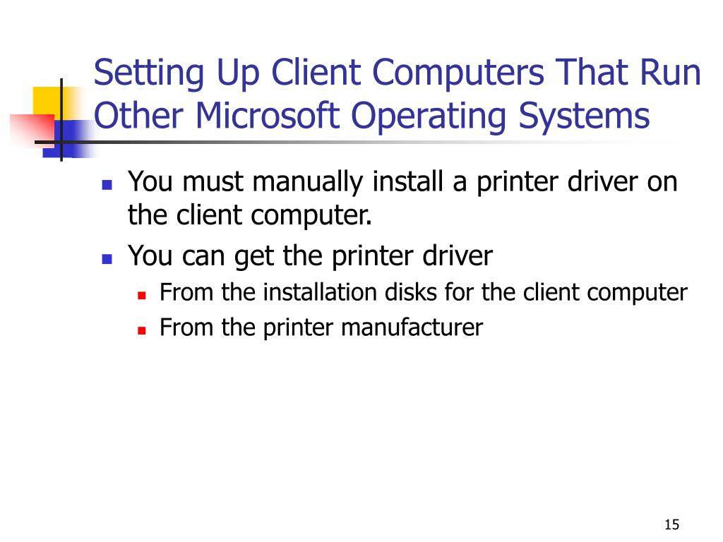 Setting Up Client Computers That Run Other Microsoft Operating Systems