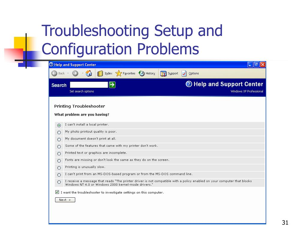 Troubleshooting Setup and Configuration Problems