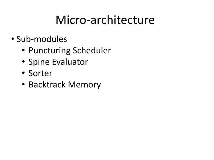 Micro-architecture