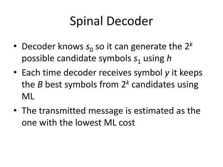 Spinal Decoder
