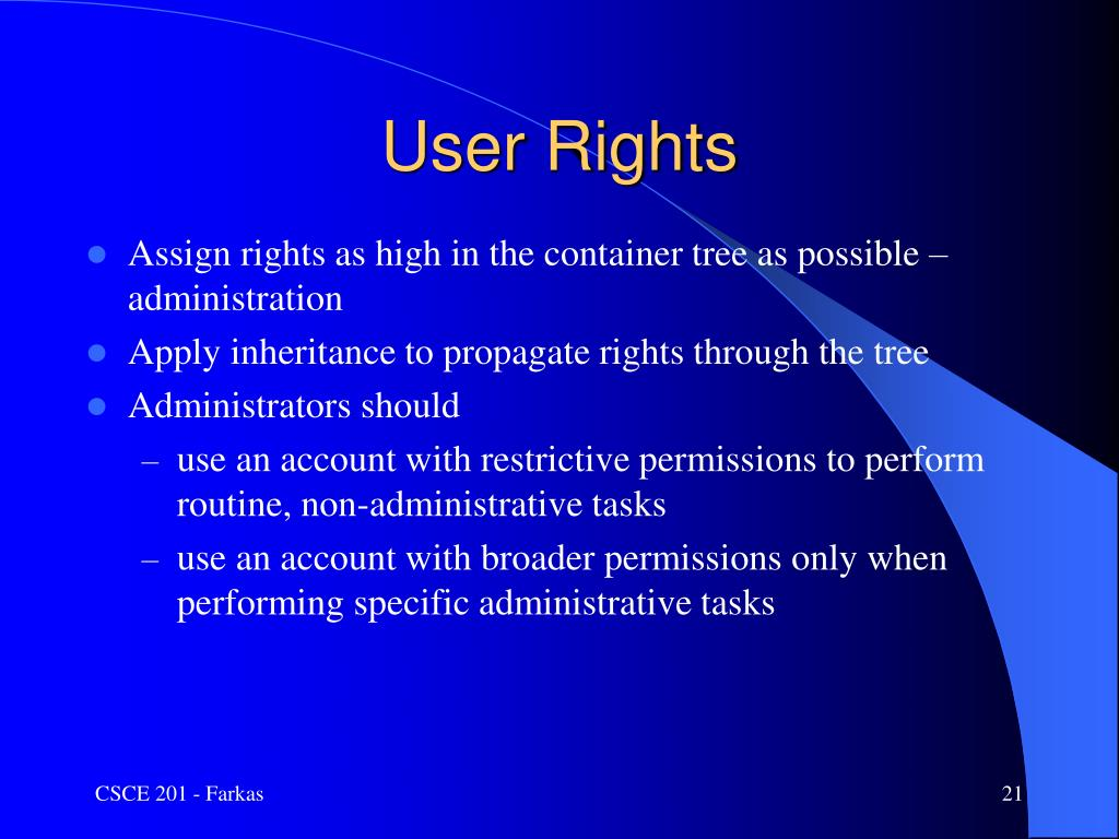 User Rights