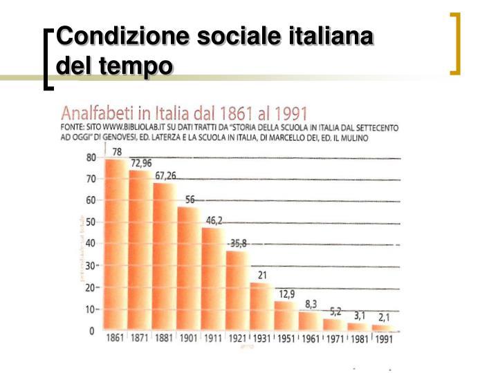 Condizione sociale italiana
