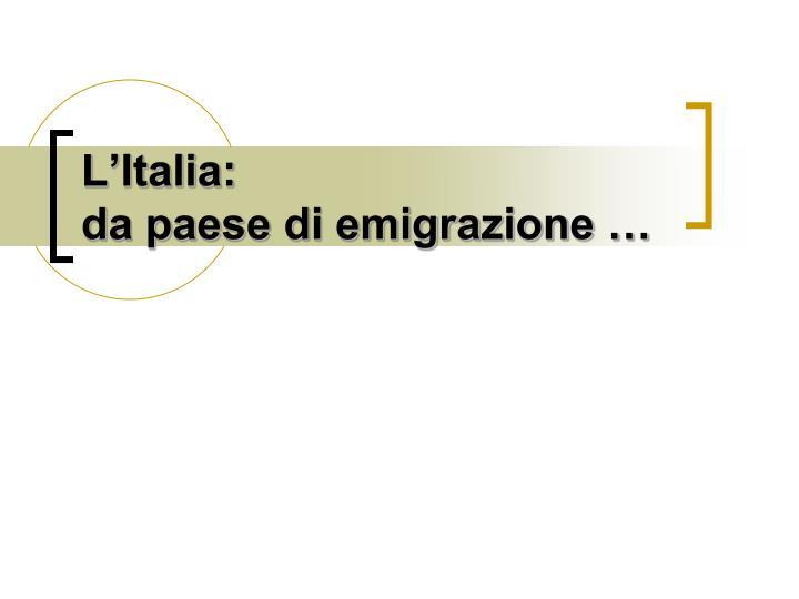 L'Italia: