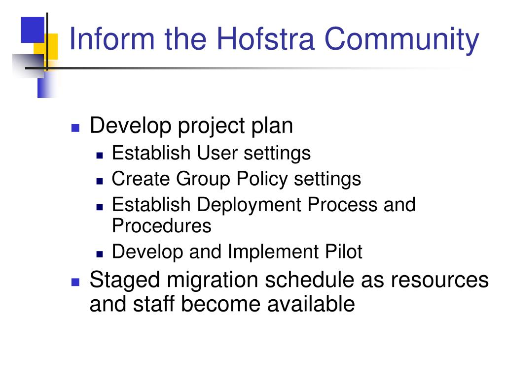 Inform the Hofstra Community