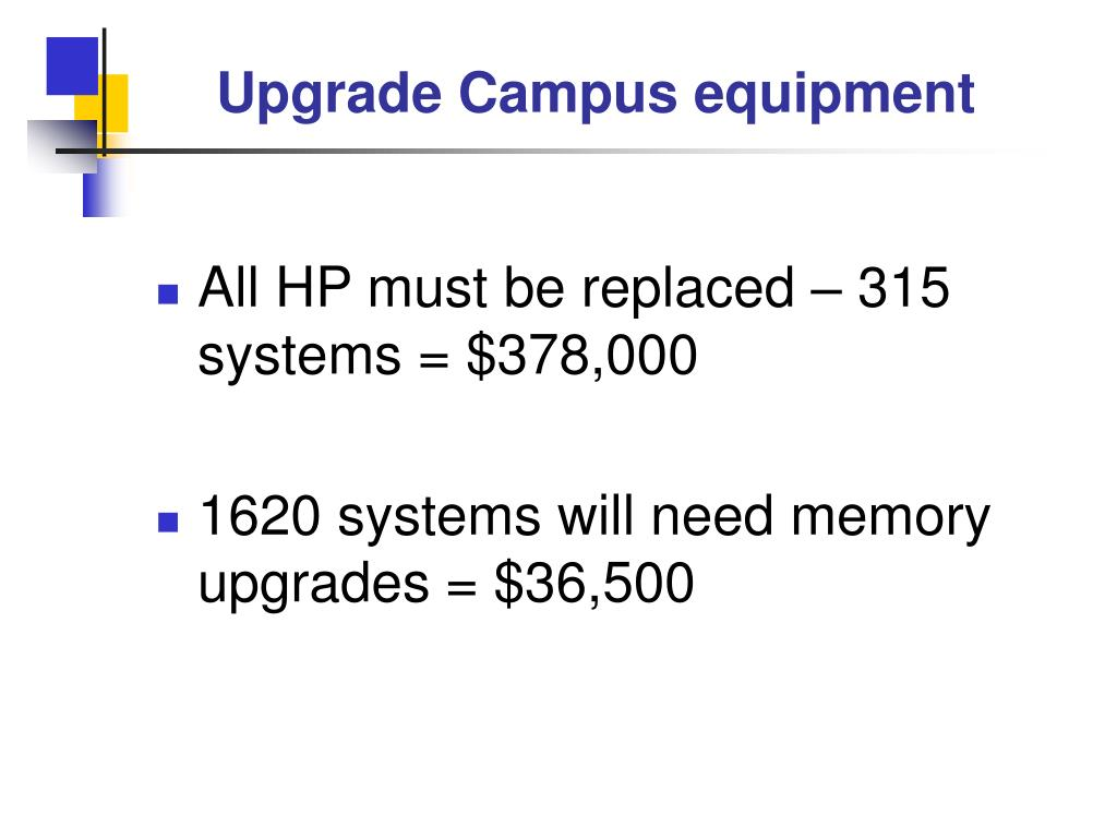 Upgrade Campus equipment