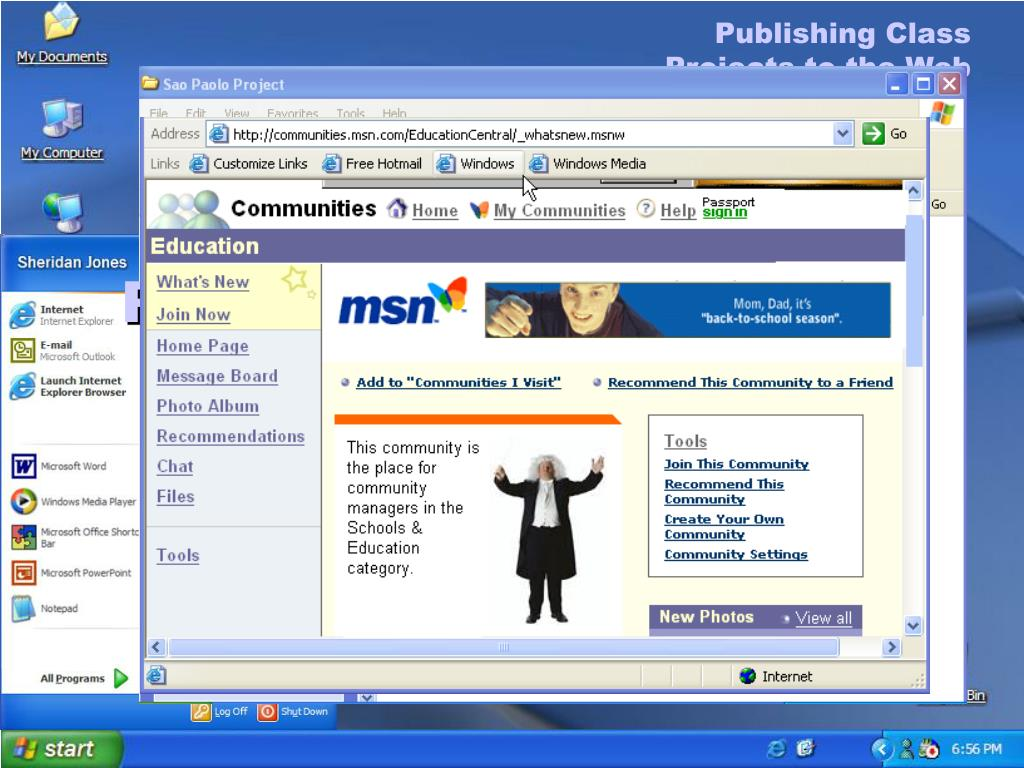 Publishing Class Projects to the Web