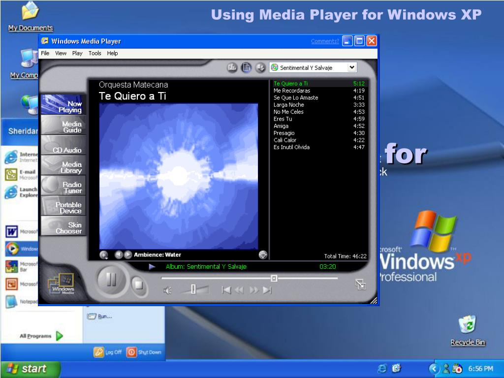 Using Media Player for Windows XP