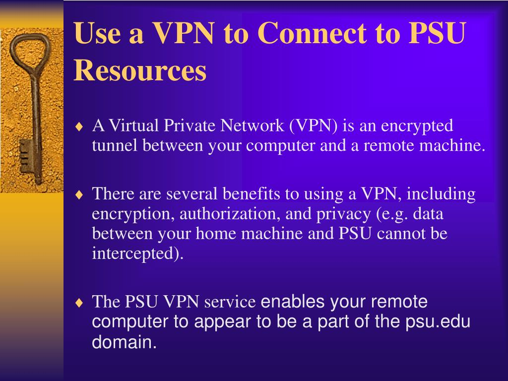 Use a VPN to Connect to PSU Resources