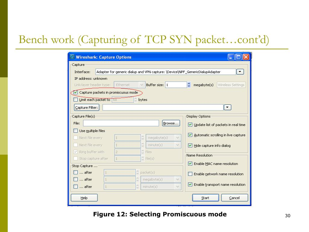Bench work (Capturing of TCP SYN packet…cont'd)