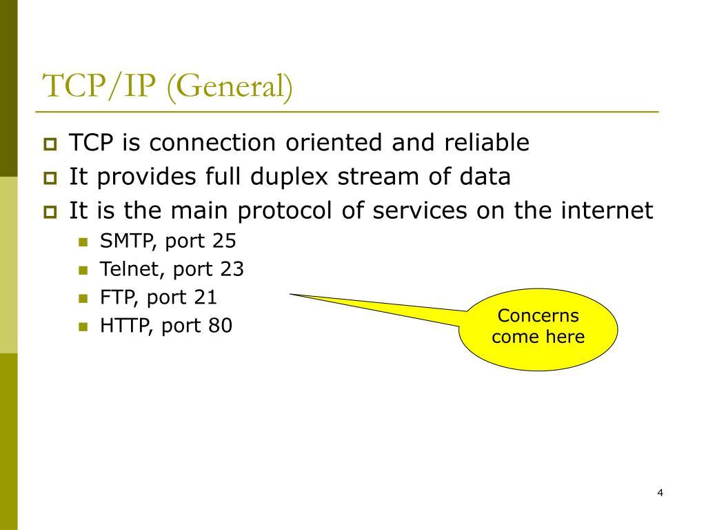 TCP/IP (General)