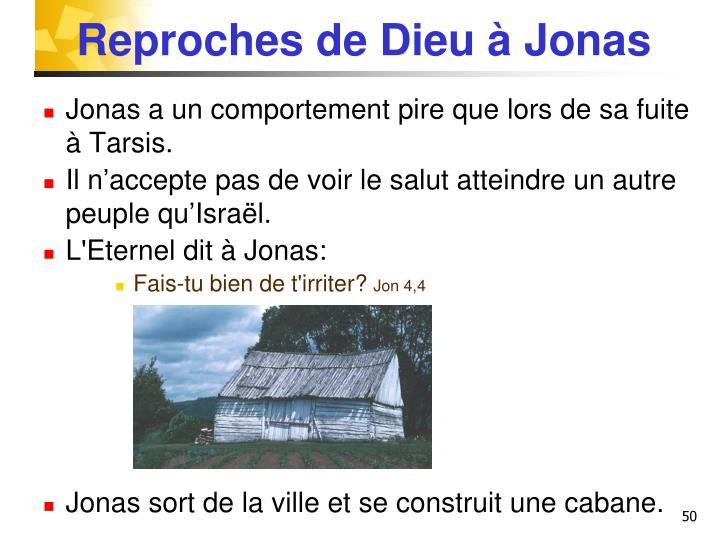 Reproches de Dieu à Jonas