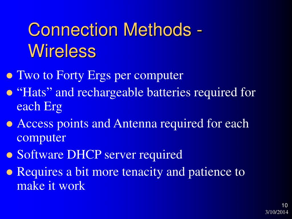 Connection Methods - Wireless