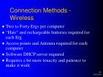 connection methods wireless