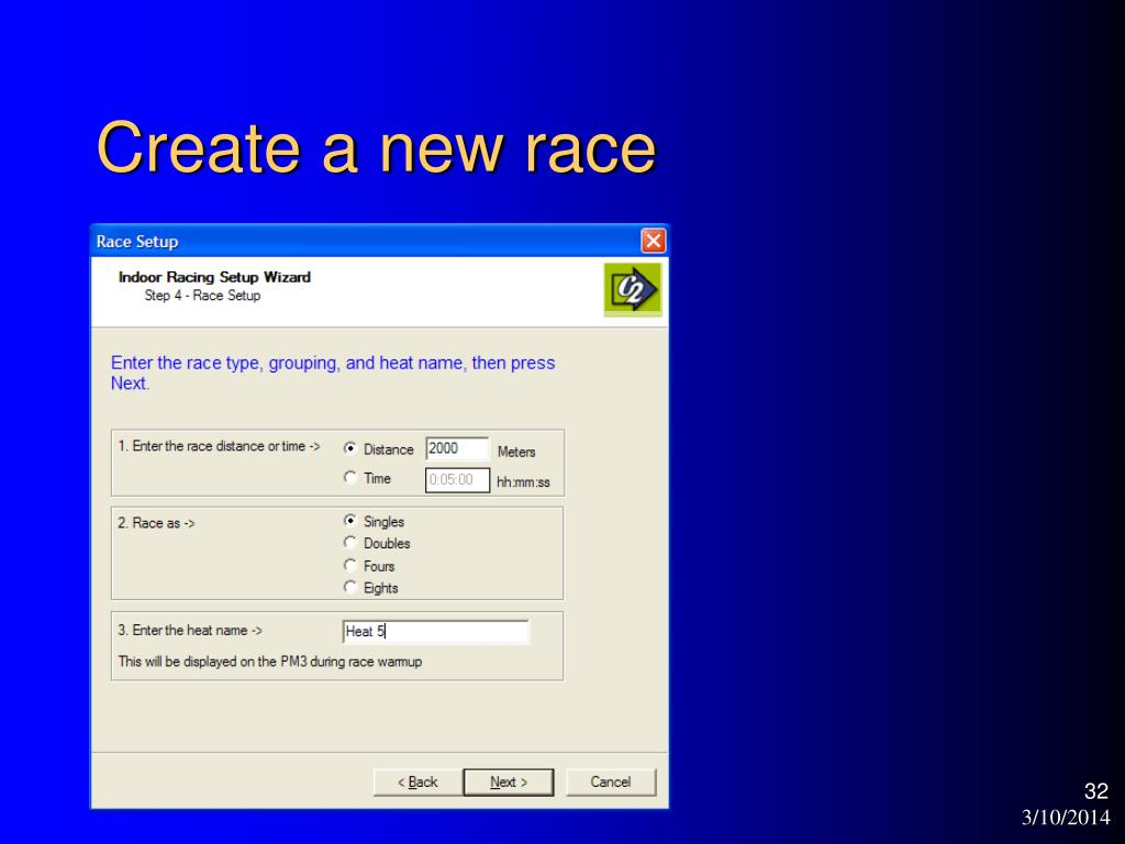Create a new race
