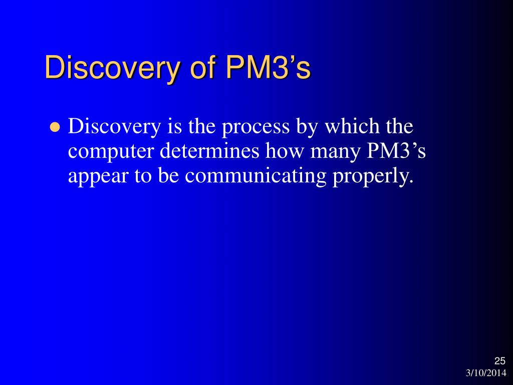 Discovery of PM3's
