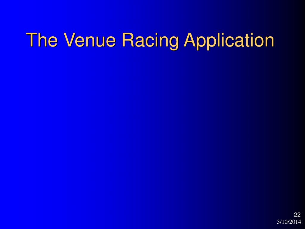 The Venue Racing Application