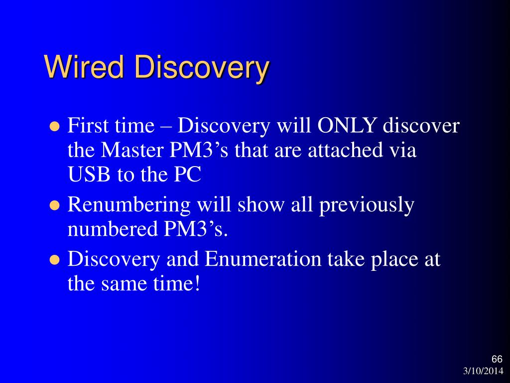 Wired Discovery