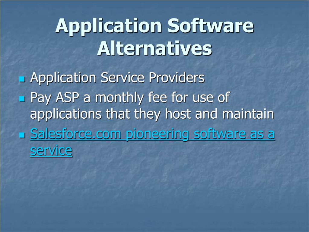 Application Software Alternatives