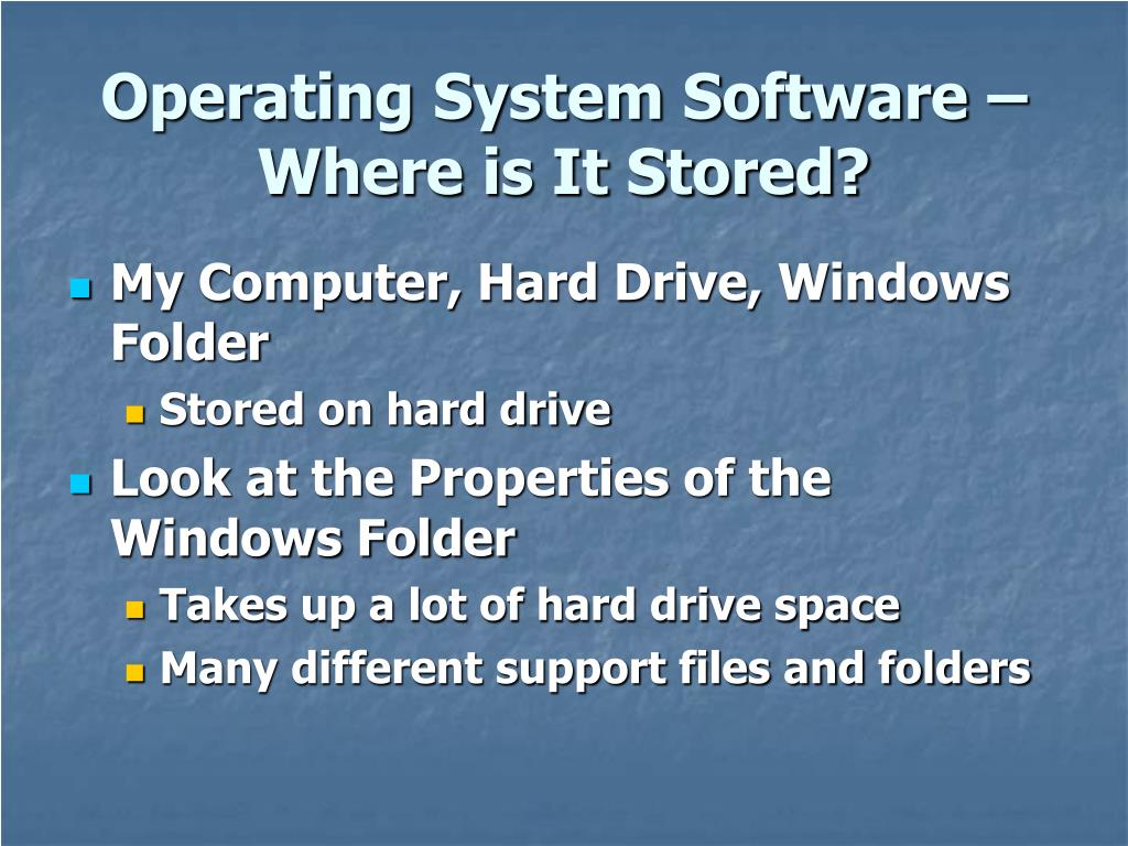 Operating System Software – Where is It Stored?