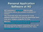 personal application software at nd