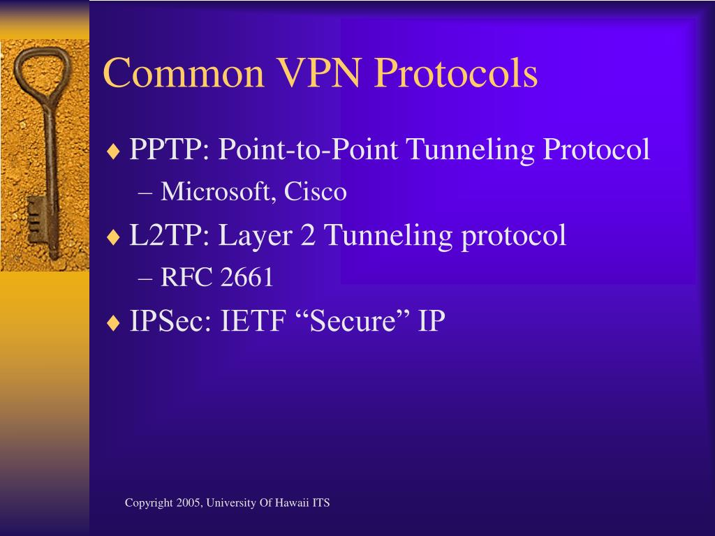 Common VPN Protocols