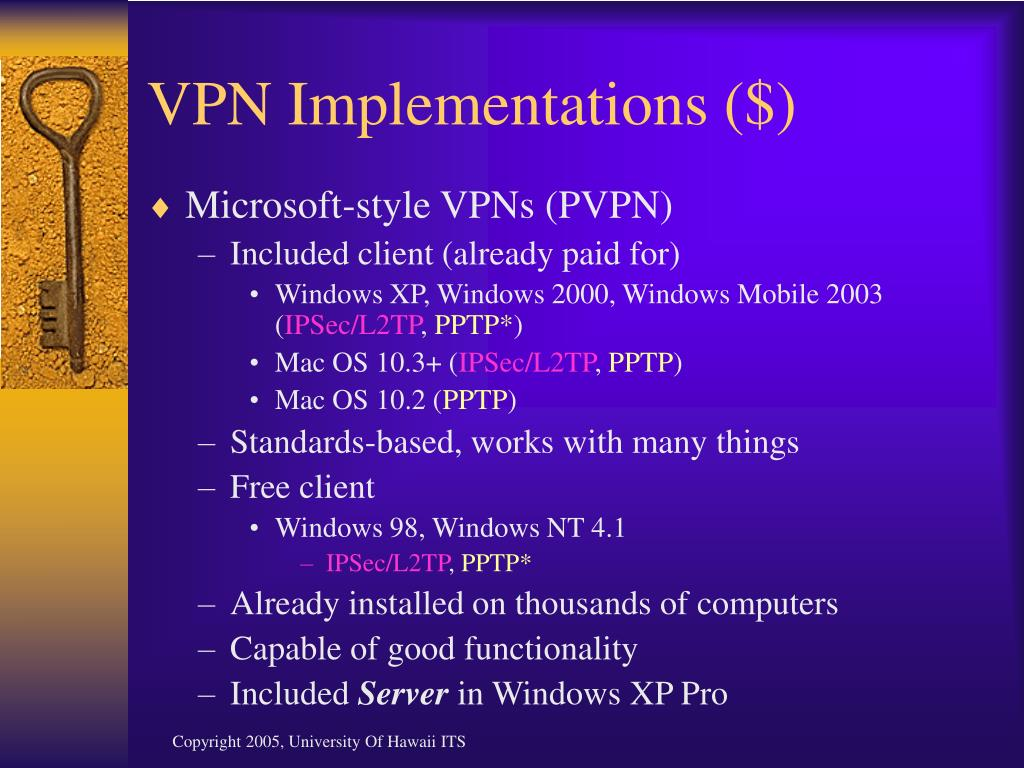 VPN Implementations ($)