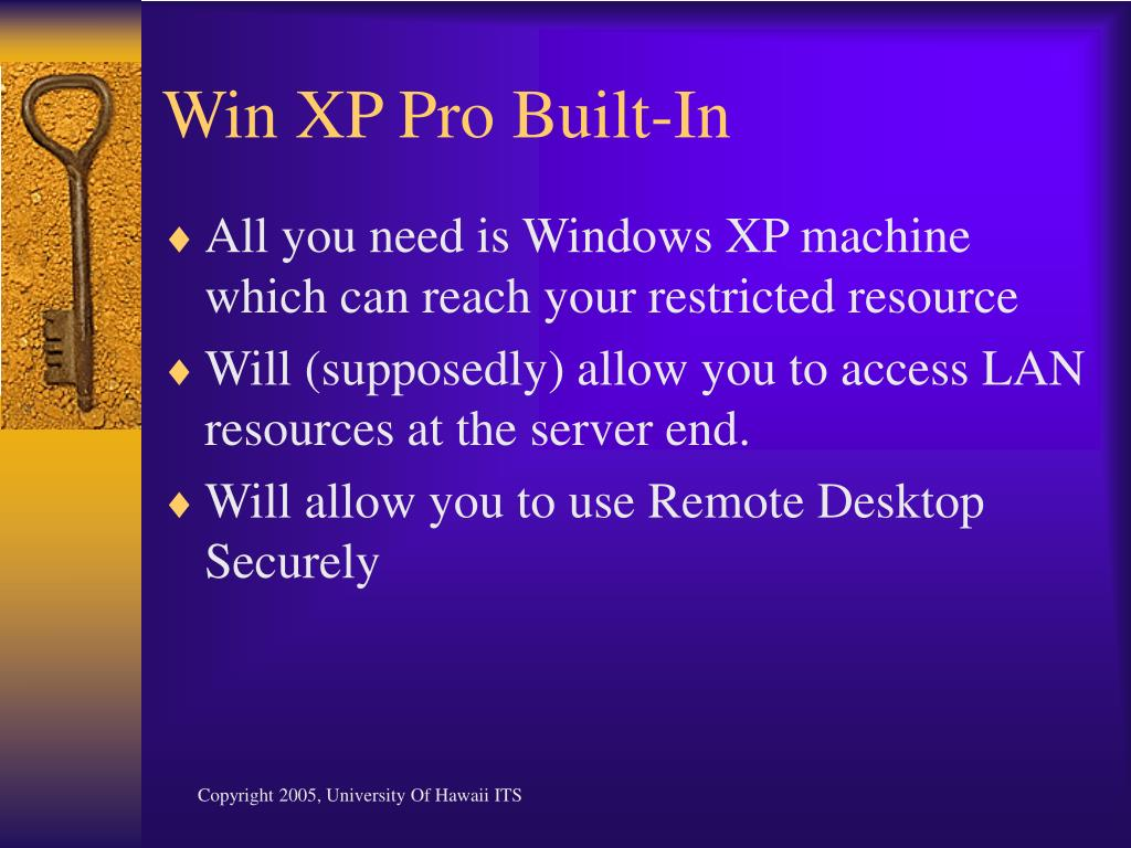 Win XP Pro Built-In